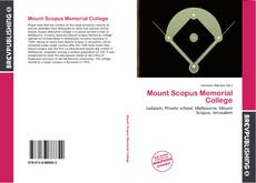 Bookcover of Mount Scopus Memorial College