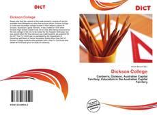 Capa do livro de Dickson College