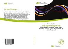Bookcover of 5th Alpini Regiment