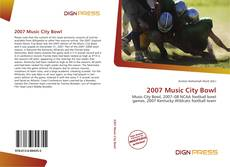 Portada del libro de 2007 Music City Bowl