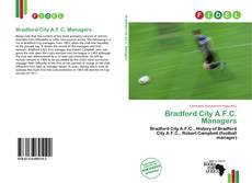 Обложка Bradford City A.F.C. Managers