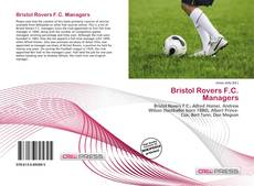 Обложка Bristol Rovers F.C. Managers