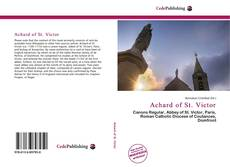 Bookcover of Achard of St. Victor
