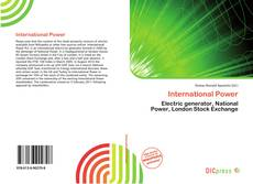 Bookcover of International Power