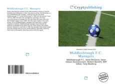 Buchcover von Middlesbrough F.C. Managers