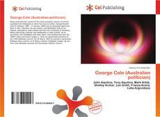 Bookcover of George Cole (Australian politician)