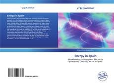Bookcover of Energy in Spain