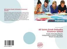Buchcover von All Saints Greek Orthodox Grammar School