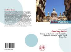 Bookcover of Geoffrey Rufus