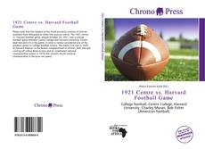 Bookcover of 1921 Centre vs. Harvard Football Game