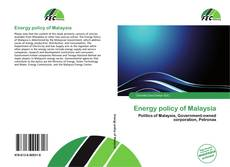Energy policy of Malaysia kitap kapağı