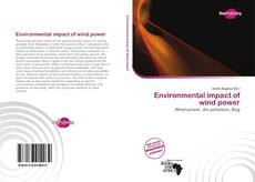 Bookcover of Environmental impact of wind power