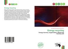 Bookcover of Energy recycling