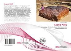 Leonid Kulik kitap kapağı