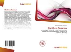 Bookcover of Matthew Foreman