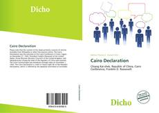 Bookcover of Cairo Declaration
