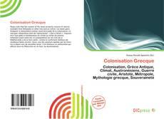 Capa do livro de Colonisation Grecque