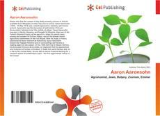 Capa do livro de Aaron Aaronsohn