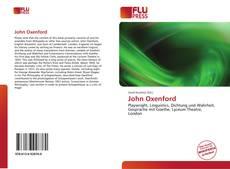 Buchcover von John Oxenford