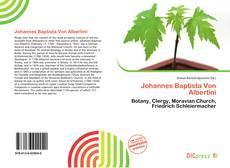 Buchcover von Johannes Baptista Von Albertini