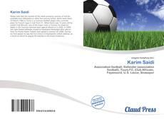 Karim Saidi kitap kapağı