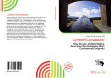 Bookcover of Lambert Cadwalader