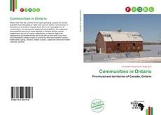 Communities in Ontario kitap kapağı