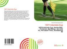 Borítókép a  1971 Intertoto Cup - hoz
