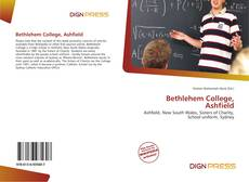 Capa do livro de Bethlehem College, Ashfield