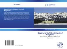 Department of Health (United Kingdom) kitap kapağı