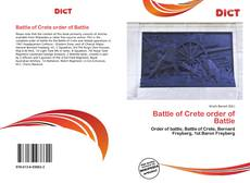 Bookcover of Battle of Crete order of Battle