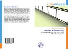 Bookcover of David Carroll (Actor)