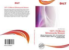 Buchcover von 1971–72 Mersin İdmanyurdu Season