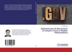 Buchcover von Determinants & Dimensions of Citizen's Trust in Khyber Pakhtunkhwa