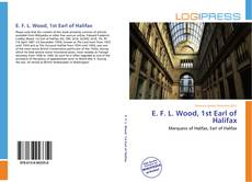 Bookcover of E. F. L. Wood, 1st Earl of Halifax