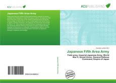 Bookcover of Japanese Fifth Area Army