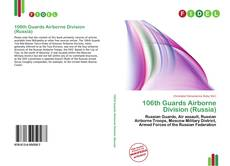 Bookcover of 106th Guards Airborne Division (Russia)