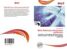 Copertina di Mark Robinson (Australian politician)
