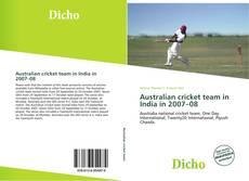 Couverture de Australian cricket team in India in 2007–08