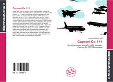 Bookcover of Caproni Ca.111