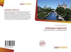 Capa do livro de Addington Highlands