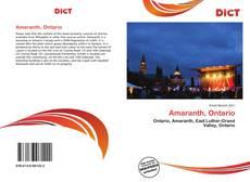 Amaranth, Ontario kitap kapağı