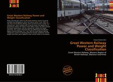 Обложка Great Western Railway Power and Weight Classification