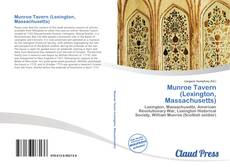 Capa do livro de Munroe Tavern (Lexington, Massachusetts)