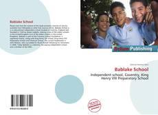 Buchcover von Bablake School