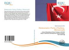 Democratic Party (Turkey, Historical) kitap kapağı