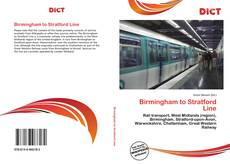 Copertina di Birmingham to Stratford Line