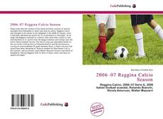 2006–07 Reggina Calcio Season的封面