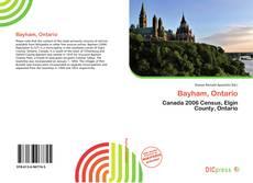 Copertina di Bayham, Ontario