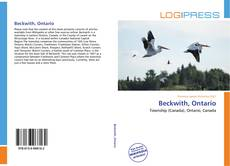 Copertina di Beckwith, Ontario